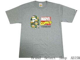A BATHING APE(エイプ)xMARVEL COMIC(マーベル・コミックス)BAPE MARVEL CAMO TEE【Tシャツ】【グレー】【日本製】【MEN'S】【新品】BAPE(ベイプ)