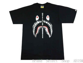 A BATHING APE(エイプ)BAPE SPLINTER CAMO SHARK TEE【Tシャツ】【ブラックxブラック】【新品】【MEN'S】【BAPE/ベイプ】