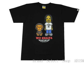 A BATHING APE(エイプ)xWIZ KHALIFA(ウィズ・カリファ)BABY MILO X WIZ KHALIFA TEE【Tシャツ】【ブラック】【新品】【MEN'S】BAPE(ベイプ)