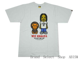A BATHING APE(エイプ)xWIZ KHALIFA(ウィズ・カリファ)BABY MILO X WIZ KHALIFA TEE【Tシャツ】【ホワイト】【新品】【MEN'S】BAPE(ベイプ)
