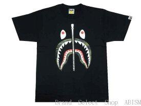 A BATHING APE(エイプ)1ST CAMO SHARK TEE【Tシャツ】【ブラックxグリーンCAMO】【新品】【MEN'S】【BAPE/ベイプ】