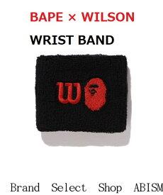 A BATHING APE(エイプ)BAPE × WILSON WRIST BAND【ブラック】【新品】【リストバンド】BAPE(ベイプ)