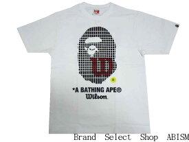 A BATHING APE(エイプ)xWILSON(ウイルソン)BAPE × WILSON APE HEAD TEE【Tシャツ】【ホワイト】【新品】【MEN'S】BAPE(ベイプ)