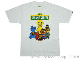 A BATHING APE(エイプ)xSESAME STREET(セサミストリート)BAPE X SESAME STREET CHARACTERS TEE #1【Tシャツ】【ホワイト】【新品】【MEN'S】BAPE(ベイプ)