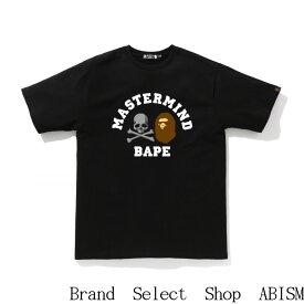 A BATHING APE(エイプ)xmastermind JAPAN(マスターマインドジャパン)MM VS BAPE TEE #5 【Tシャツ】【半袖Tシャツ】【ブラック】【日本製】【新品】BAPE(ベイプ)