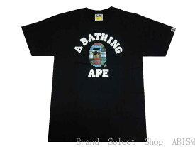 A BATHING APE(エイプ)PATCHWORK COLLEGE TEE【Tシャツ】【ブラック】【新品】【MEN'S】【BAPE/ベイプ】