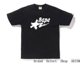 A BATHING APE(エイプ)BRUSH BAPE STA LOGO TEE【Tシャツ】【ブラック】【新品】【MEN'S】【BAPE/ベイプ】