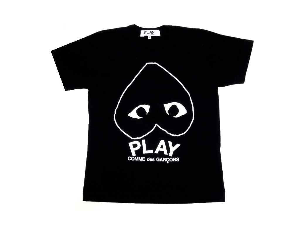 ★レディースサイズ★PLAY COMME des GARCONS(プレイ コムデギャルソン)『逆さまハートTシャツ』【LADY'S】【ブラック】【新品】【日本製】