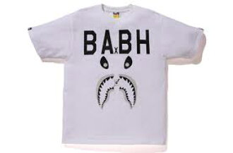A BATHING APE(에이프) xBOUNTY HUNTER(바운티한타) MAD SHARK TEE BAPE 베이프