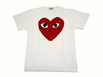 "PLAY COMME des GARCONS (Comme des garcons play) ""big-red-heart T shirt' (t-shirts) (white)"