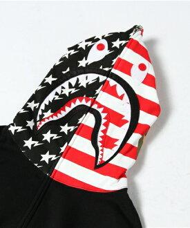 沐浴猿 (猿) 美国鲨鱼全拉链帽衫美国鲨鱼全 JP 美食家 (帕克) BAPE 猿人