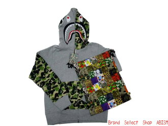A BATHING APE (APE) NW20 ABC CAMO SHARK FULL ZIP HOODIE ABC Camo shark フルジップフーディー (Parker) NW20 specialty DrawString bag with! BAPE bape