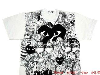 "PLAY COMME des GARCONS (プレイコムデギャルソン) ""WONDERLAND Alice T-shirt"" (T-shirt) (white)"