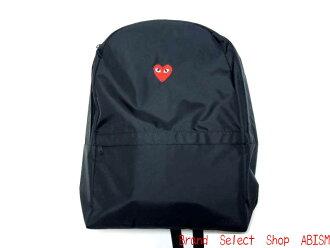 PLAY COMME des GARCONS (Comme des garcons play) red heart BACKPACK ( rucksack ) (backpack) (black)