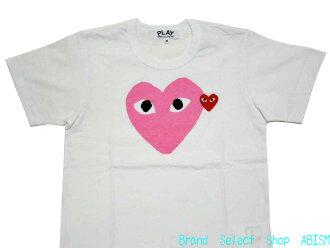 ' 여성 크기 PLAY COMME des GARCONS (플레이 닷컴 드 르 손) 『 분홍 하트 티셔츠 』