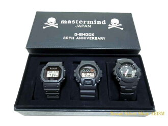 mastermind JAPAN (mastermind Japan) x g-shock (g-shock) 30th anniversary commemorative model 3 pieces (DW-5600VT/DW-6900FS / g-100)