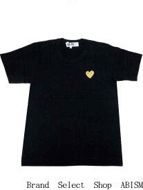 ★レディースサイズ★PLAY COMME des GARCONS(プレイ コムデギャルソン) 『ゴールド・ハートワッペン・Tシャツ』【LADY'S】【ブラック】【日本製】【新品】