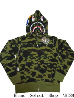 A BATHING APE (APE) 1 ST CAMO SHARK FULL ZIP HOODIE shark full zip hoodies BAPE (BAPE).