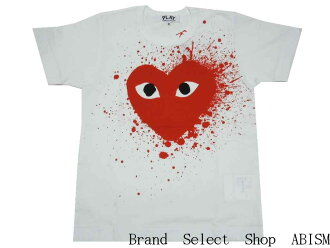 """★ Womens size ★ PLAY COMME des GARCONS (Comme des garcons play) RED CELEBRATION (Christmas / Xmas) """"red heart t-shirt'"""