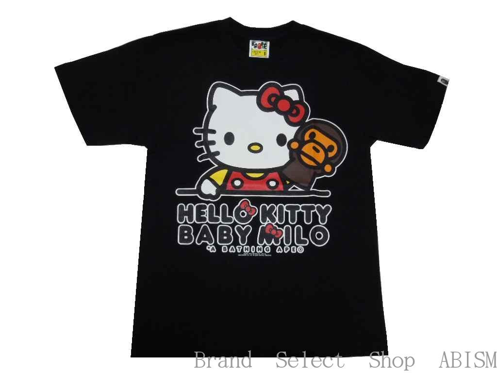 【代引き不可】A BATHING APE(エイプ)x HELLO KITTY(ハローキティ)KITTY X MILO TEE #4【Tシャツ】【ブラック】【新品】【日本製】【BAPE/ベイプ】