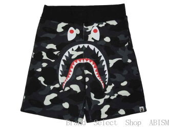 A BATHING APE (APE) CITY CAMO SHARK SWEAT SHORTS shark swettshorts BAPE / bape