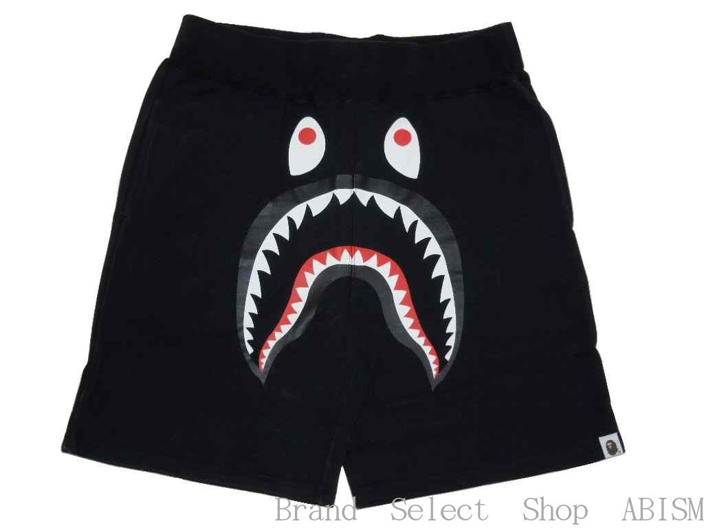 【代引き不可】A BATHING APE(エイプ)SHARK SWEAT SHORTSシャーク スウェットショーツ 【ブラック】【新品】【Men's】BAPE/ベイプ