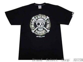 AAPE BY A BATHING APE (bathing ape EAP by) AAPE x ONE PIECE KING OF THE PIRATES TEE