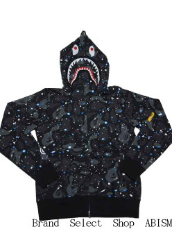 A BATHING APE (エイプ) SPACE CAMO SHARK FULL ZIP HOODIE shark full zip parka BAPE (ベイプ)