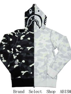 A BATHING APE(에이프) CITY CAMO HALF SHARK FULL ZIP HOODIE 샤크후르집파카 BAPE(베이프)