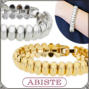 送料無料 ABISTE(アビステ)メタルデザインブレスレット/シルバー、ゴールド 4150023 レディース 女性 人気 上品 大人 おしゃれ アクセサリー ブランド ギフト プレゼント