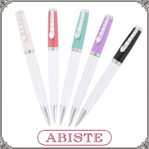 ABISTE(アビステ) キラキラボールペン/ピンク、レッド、グリーン、パープル、ブラック 2421013 レディース 女性 人気 上品 大人 かわいい おしゃれ アクセサリー ブランド 誕生日 ギフト プレ