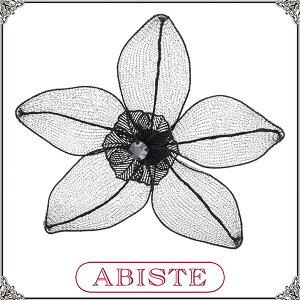 送料無料 ABISTE(アビステ)フランス製透かしフラワーモチーフブローチ/ブラック 5100095 レディース 女性 人気 上品 大人 おしゃれ アクセサリー ブランド ギフト プレゼント