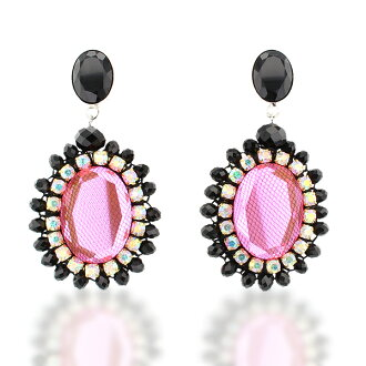 프로젝트에서 ABISTE (アビステ) 비쥬 귀걸이/핑크 3401157 여성 여성 인기 여행 성인 귀여운 유행 액세서리 브랜드 생일 선물 선물 포장 무료
