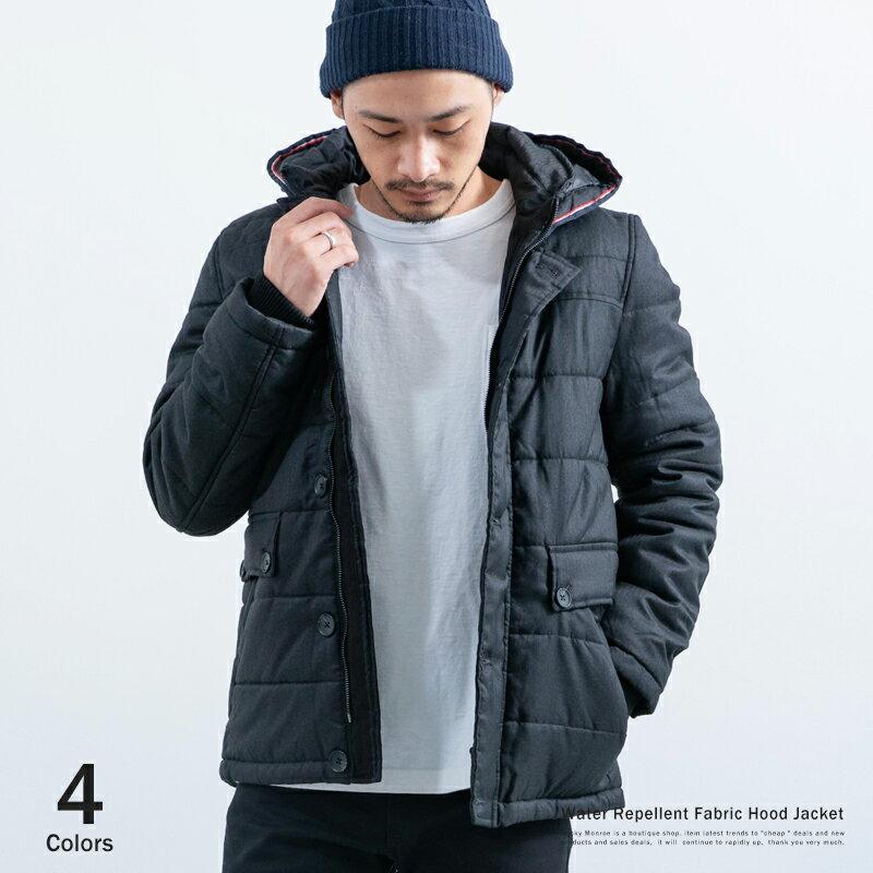 【SALE】ダウンジャケット メンズ 撥水加工 ダウンパーカー ヘリンボーン 中綿ジャケット Sサイズ XLサイズ 5221