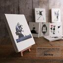 banksy バンクシー ファブリックパネル アート おしゃれ 布 インテリア 日本製 国産 ファブリックボード 6119