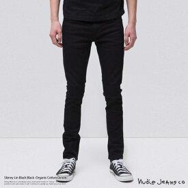 Nudie Jeans ヌーディージーンズ 111539 Skinny Lin Black Black 992 デニム メンズ スキニー ジーンズ オーガニックコットン ブラック black 11オンス パワーストレッチ スーパータイトフィット 7991