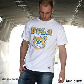 【クリアランス】カレッジT メンズ Tシャツ 半袖 白 ホワイト プリント ヘビーウェイト クルーネック 丸胴 UCLA Audience オーディエンス AUD6035 AUD6148 AUD6149 AUD6150 8044