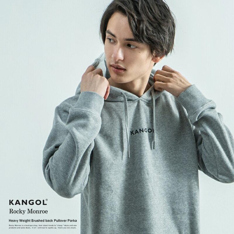 KANGOL カンゴール プルオーバーパーカー メンズ ロゴプリント 裏起毛 あったか 刺繍 フード フーディ ロゴ シンプル 8578