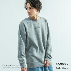 【スーパーSALE⇒50%OFF】KANGOL カンゴール スウェット メンズ ロゴプリント クルーネック 長袖 裏起毛 あったか 刺繍 ロゴ シンプル 8579