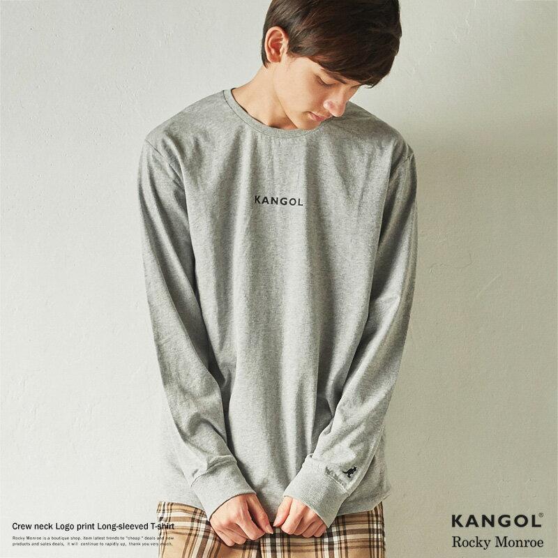 KANGOL カンゴール ロンT メンズ Tシャツ 長袖 プリント ロゴ クルーネック 刺繍 8580