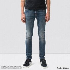 Nudie Jeans ヌーディージーンズ 112770030 Skinny Lin COLD BLUES メンズ デニム パワーストレッチ スキニー タイト オーガニックコットン 綿 8587
