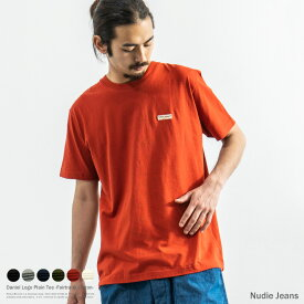 Nudie Jeans Daniel ダニエル ヌーディージーンズ 131621 半袖Tシャツ メンズ 無地 ロゴ刺繍 シンプル インド綿 フェアトレード コットン クルーネック カジュアル 8856