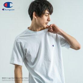 半袖Tシャツ メンズ ユニセックス ワンポイント ロゴ 刺繍 無地 シンプル カジュアル 綿 コットン BASIC Champion チャンピオン クルーネック バインダーネック スポーツ ストリート C3-P300 8881