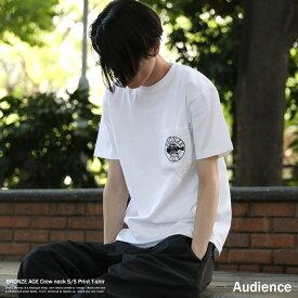 Tシャツ メンズ BRONZE AGE ブロンズエイジ プリントT 半袖 クルーネック ポケット バックプリント スケート サーフ Audience オーディエンス FRONT SQUARE SCHOOL OF FISH BACK SQUARE AUD6145 AUD6146 AUD6147 8895
