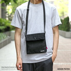 ADAM PATEK アダムパテック メンズ ユニセックス メッシュサコッシュ ショルダー 斜めがけ バッグ カバン 鞄 Breathatec ブリザテック 撥水 透湿防水素材 WOOJIN PLASTIC ウージンプラスチック AMPK-B054 8919