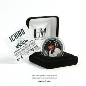 【あす楽対応】 イチロー 引退記念 グッズ 限定 5000個 コイン 硬貨 メダル ミント 鈴木 一朗 51 マリナーズ MLB ギフト プレゼント 野球 ベースボール メジャーリーグ Ichiro Retirement Silver Color Mint Coin ケース付属 8953