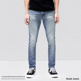 Nudie Jeans ヌーディージーンズ Lean Dean リーンディーン ブロークンサマー メンズ デニムパンツ スリム スキニー テーパード オーガニックコットン 綿 ストレッチ 伸縮性 113203032 8986