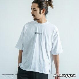 Kappa カッパ 半袖Tシャツ ブランドロゴ プリント メンズ レディース ユニセックス シンプル カジュアル ビッグシルエット オーバーサイズ ドロップショルダー ボックス レイヤード 別注 綿 コットン 9009