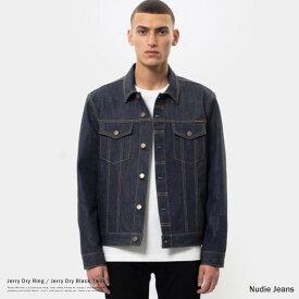 Nudie Jeans ヌーディージーンズ Jerry Dry Ring Dry Black Twill 160649 160650 デニムジャケット Gジャン メンズ オーガニックコットン 綿 リジッド アウター 9082