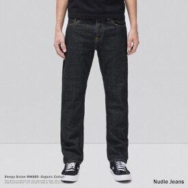 Nudie Jeans ヌーディージーンズ 112899032 Sleepy Sixten デニムパンツ メンズ リジッド ジーンズ ジーパン リラックスフィット ストレート バギー ボタンフライ オーガニックコットン 綿 9083